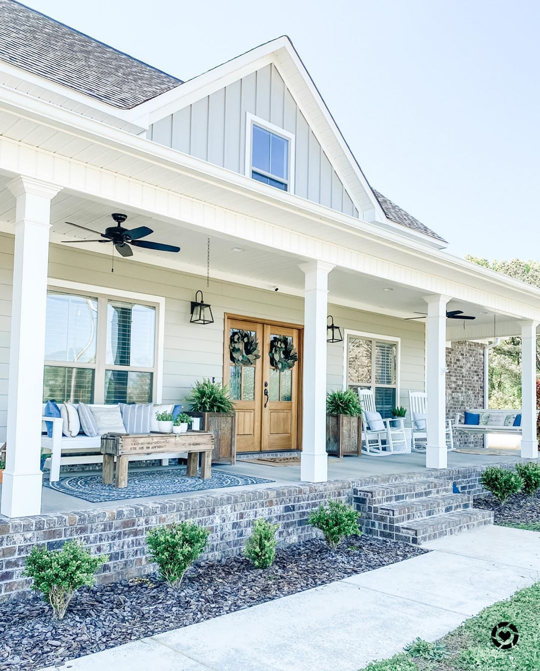 Julia Greene Acres Farmhouse On Instagram Good Morning Y All I Have Always Dreamed Of A Big Front Porch House Front Porch Big Front Porches Porch Remodel
