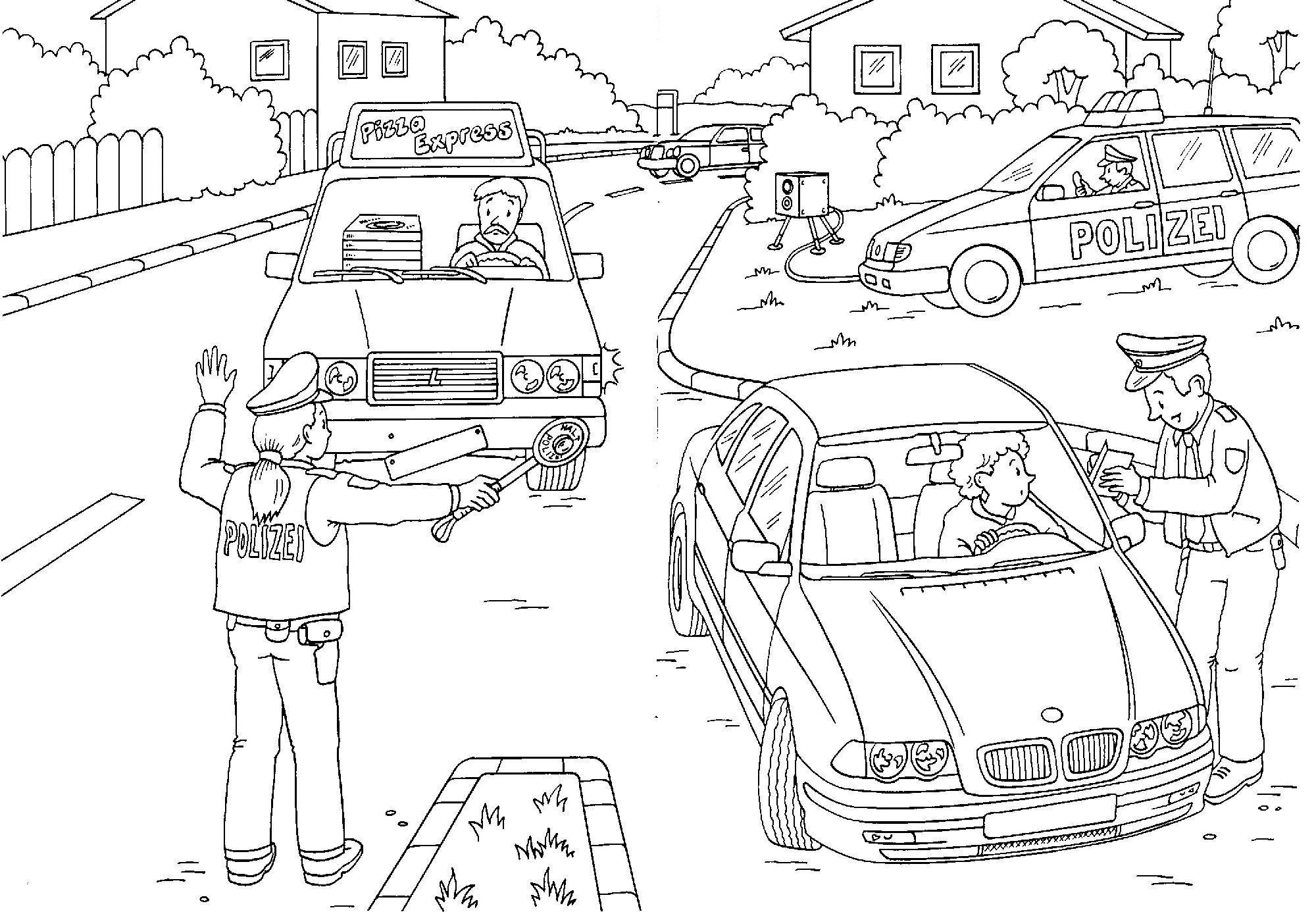 Ausmalbilder Polizei BMW #bmw #polizei #police #coloring