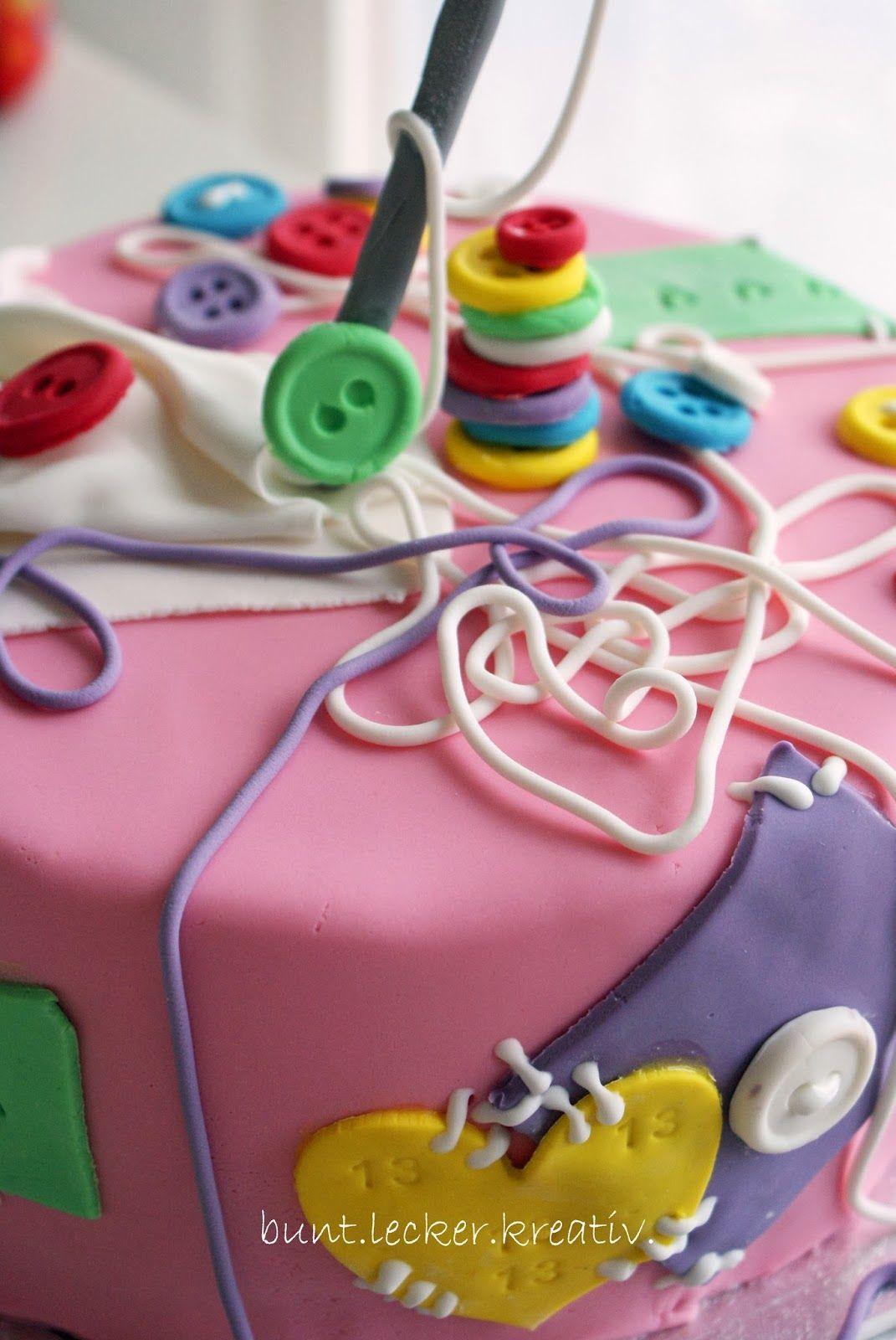 Nahen Torte Geburtstag Sewing Cake Nah Torte Pinterest