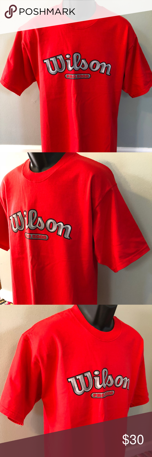 90s Wilson Pro 5000 Shirt Golf Tennis Volleyball Vintage 1990s Wilson Pro 5000 Tee Shirt Classic Athletic Shirt Thick Q Shirts Athletic Shirts Vintage Shirts