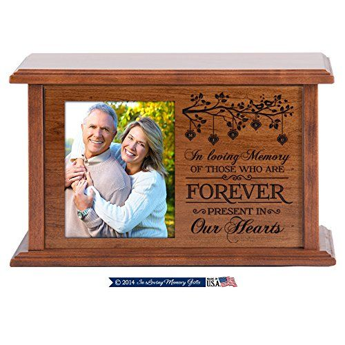 Wooden Cremation Urn for Adult Ashes in Loving Memory
