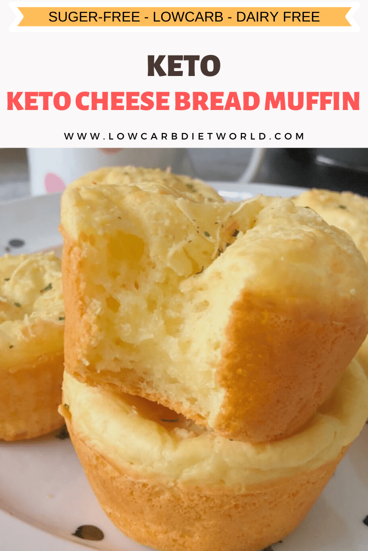 Keto Cheese Bread Muffin  #lowcarbeating