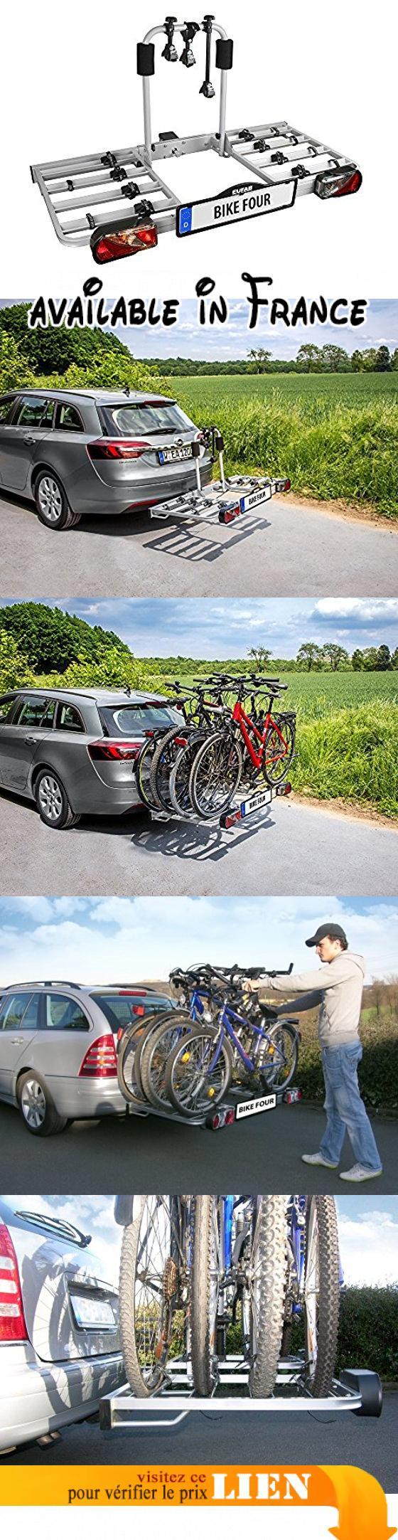 Eufab Bike Four 11437 Porte Vélos Porte Velo 4 Vélos Sur Attelage