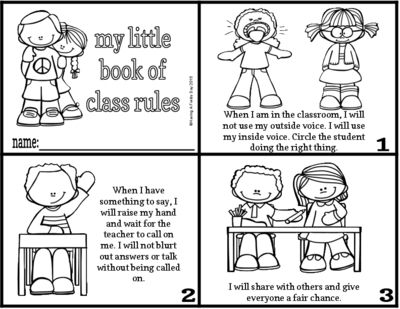 Class Rules Minibook from Having A Fields Day on