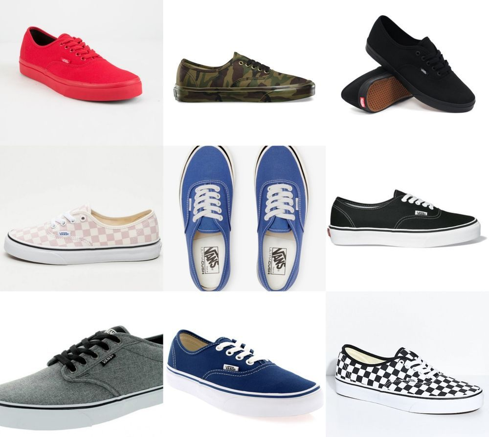 9a59cb67eb1 New Vans Womens Checkerboard Black White Pink Canvas Sneaker Shoes 5.5 - 12   VANS
