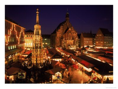 Christkindlmarkt in Nurnberg, German. To me, it is the very essence of Christmas.