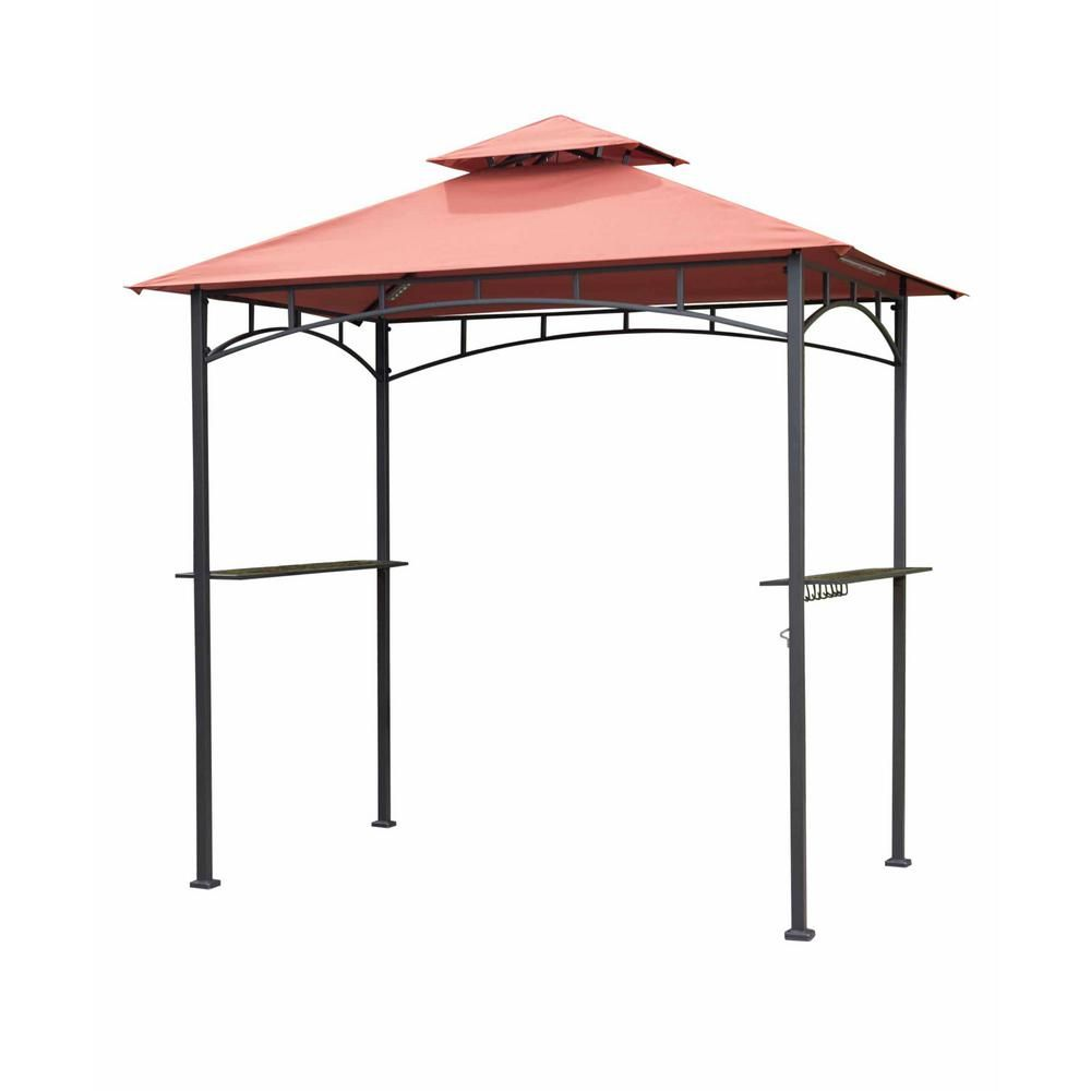 Sunjoy 8 Ft X 5 Ft Grill Gazebo With Canopy 110103011 Grill Gazebo Gazebo Outdoor Bbq