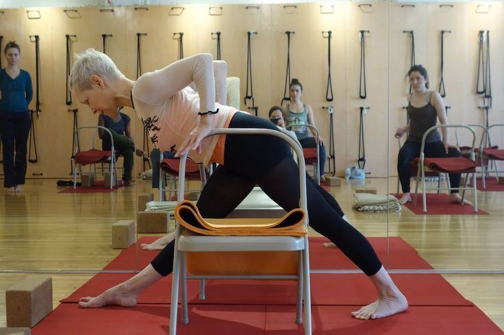 Parsvottanasana yoga chair pinterest iyengar yoga for Chaise yoga iyengar