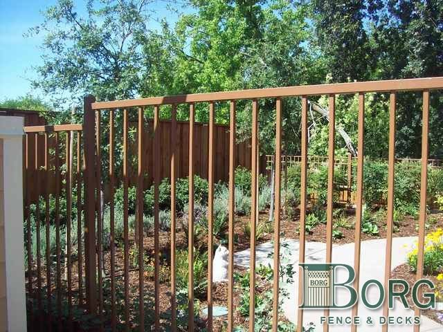 Wrought Iron Fence Brown Staket