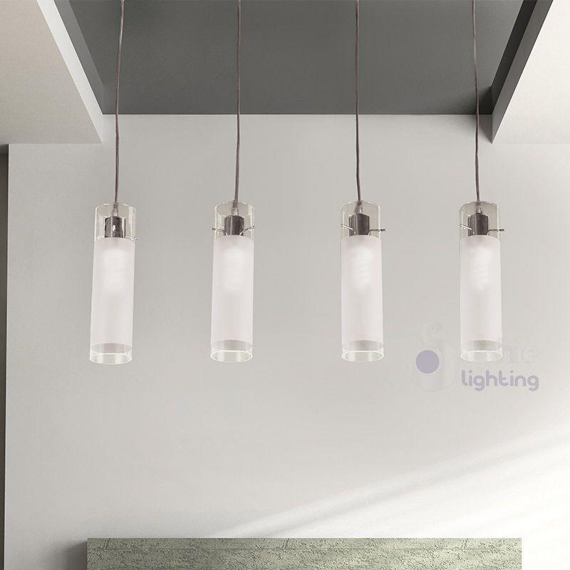 Lampadario lampada sospensione 4 luci design moderno - Luci sospensione design ...