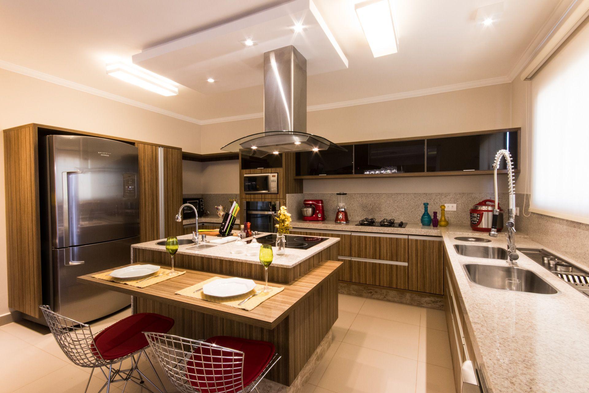 Projetos De Cozinhas Com Ilha Central O Da Espaosa Ilha Central
