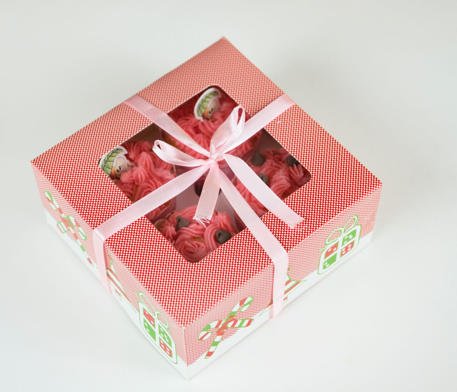 Christmas Cupcake Boxes Inserts For Cupcake Muffin Holiday Party Gift 12 Cts Holiday Party Gift Christmas Cupcakes Cupcake Boxes