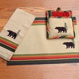 Bear Kitchen Towels & Placemats