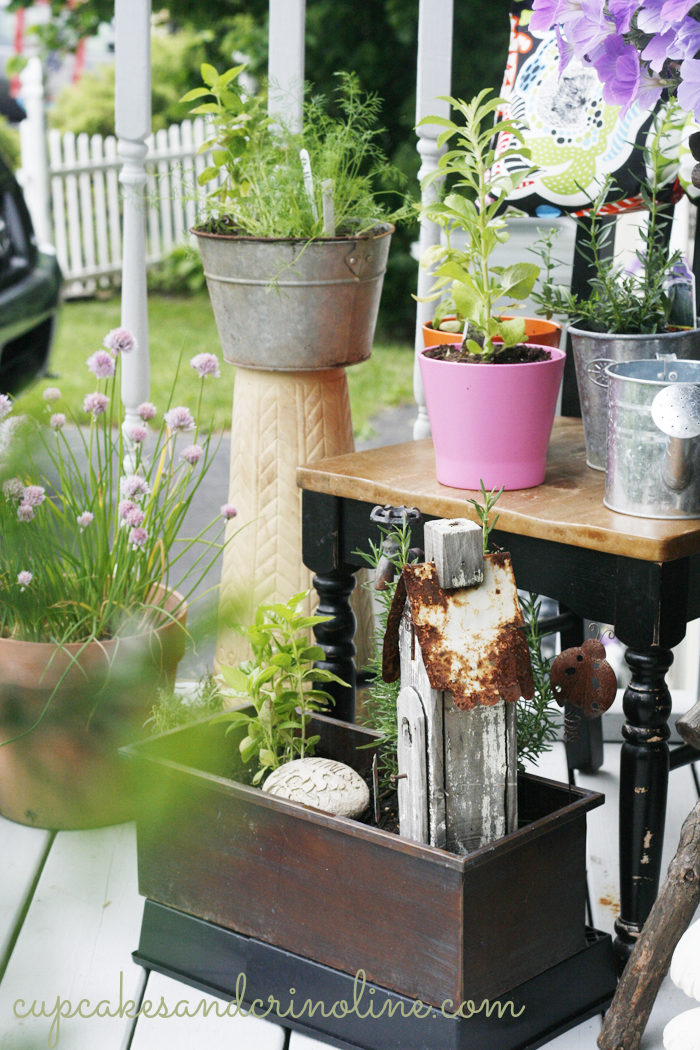 My Front Porch Herb Garden Elements Of Summer Small Herb