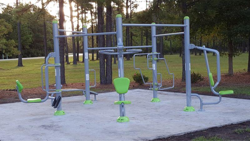 Exopod At Ogden Park Wilmington Nc Outdoor Fitness Park Outdoor Fitness Equipment Outdoor Workouts Outdoor Gym