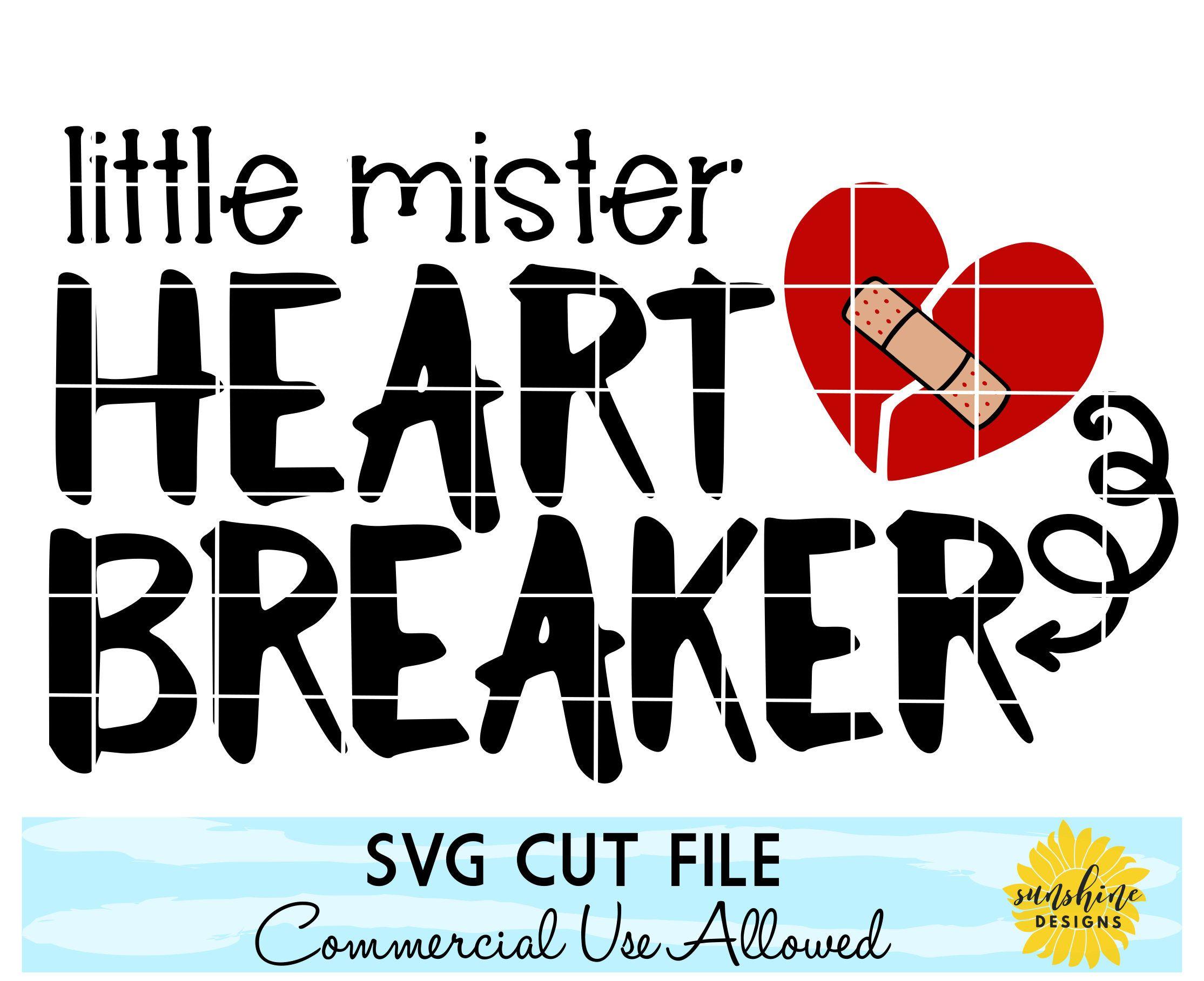 Valentine S Day Svg Little Mister Heart Breaker Svg Dxf Png Valentine S Day Tshirt Funny Svg Kids Svg Boys Shirt Svg Toddler Svg Funny Svg Funny Tshirt Design Heart Breaker Svg