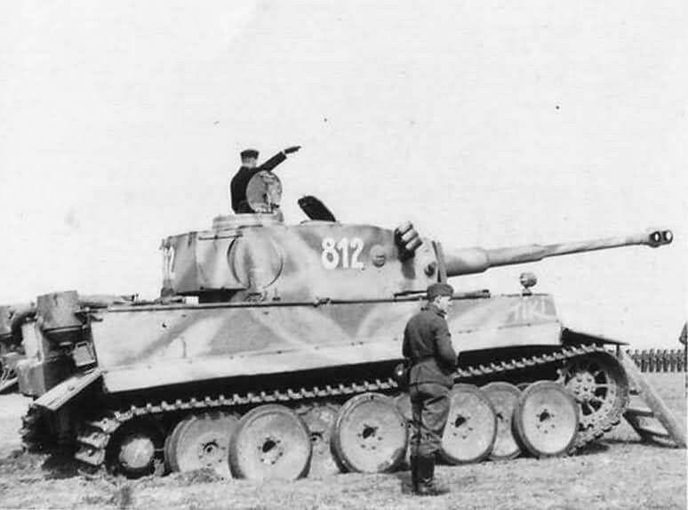 Tiger tank number 812 named Tiki  2 Das Reich