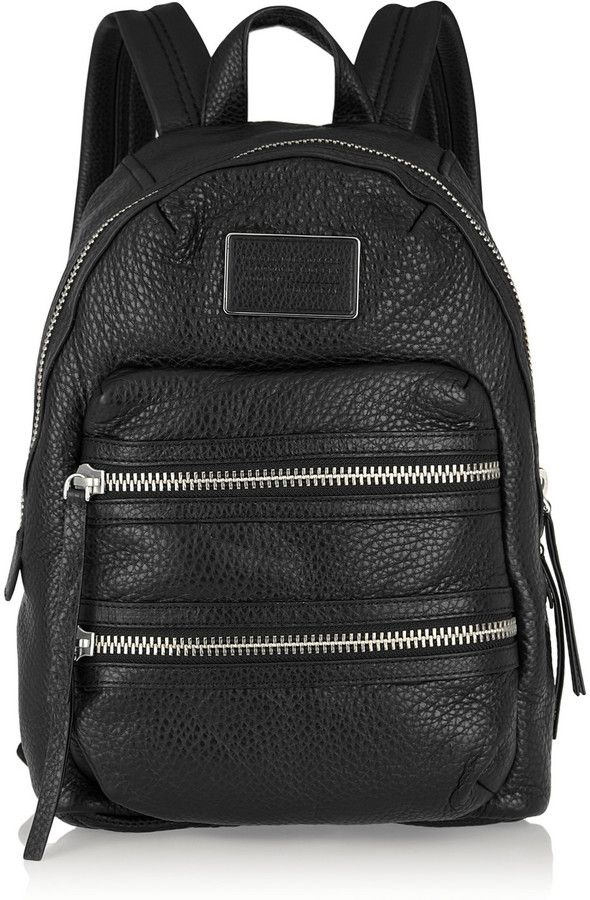 Marc by Marc Jacobs Domo Biker textured-leather backpack