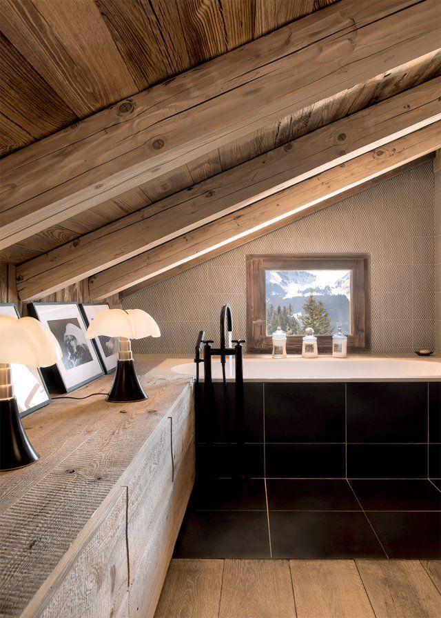 Une ancienne ferme moderne au coeur de la montagne Salle de bain