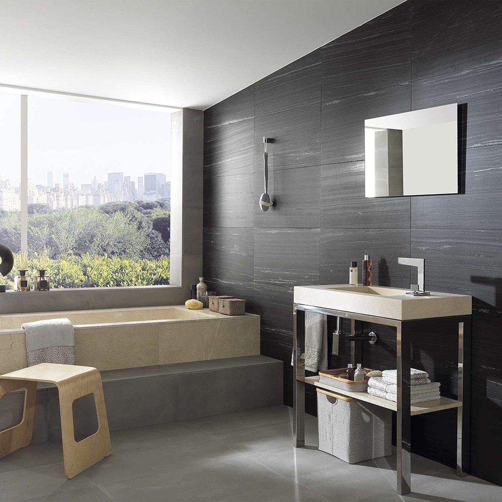 Salle De Bain Mur Noir ~ mur noir salle de bains d coration pinterest murs noirs salle