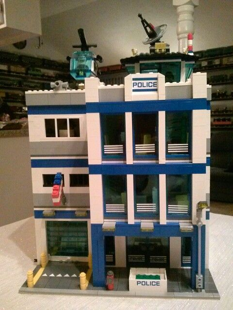 Moc Police Station Expanded The 60047 Set To Add To Our Modular City Lego Police Lego Police Station Lego City Fire Station