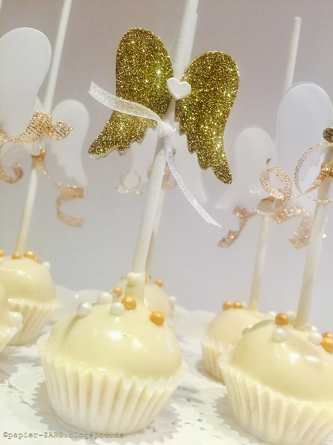 Papierzart Die Himmlischen Kuchen Cake Pops Flügel Engel