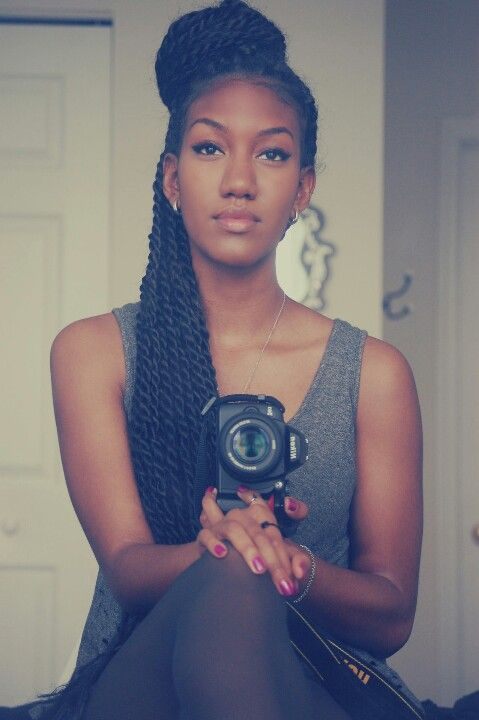 Love her Senegalese twists