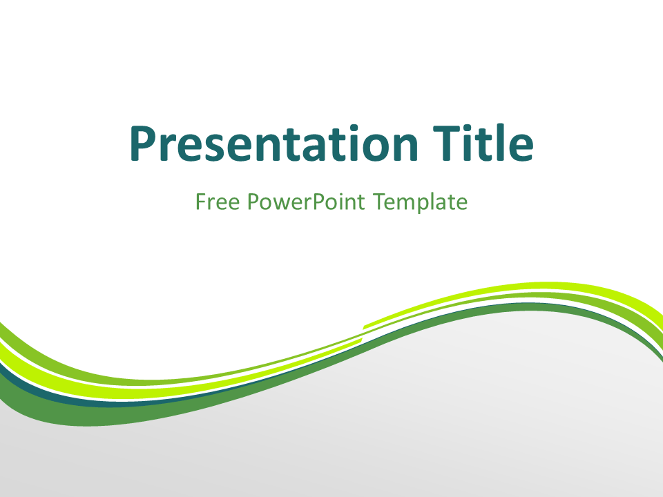 Green wave powerpoint template presentationgo lights free green abstract wave powerpoint template title slide with light background toneelgroepblik Gallery