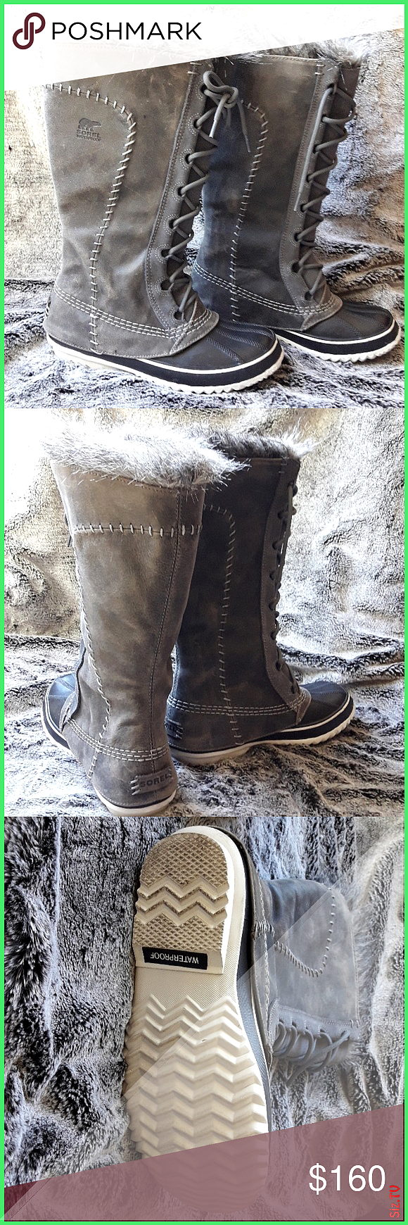 Grey Sorel Cate the Great size 7 Super cute and WARM winter boots by Sorel Worn twice for a photosho...