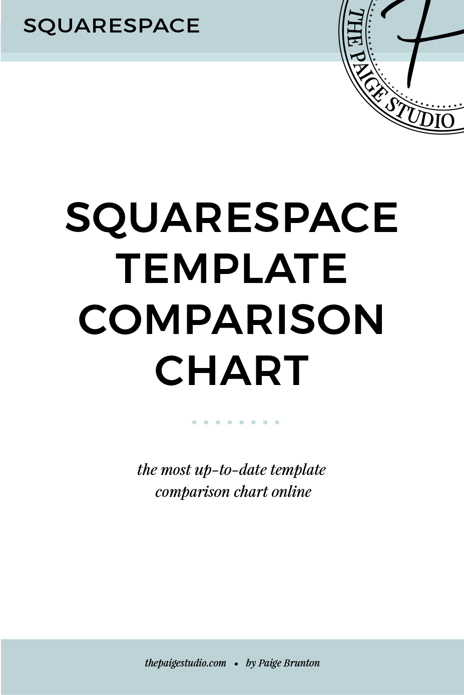 Squarespace Template Comparison Chart Updated Winter