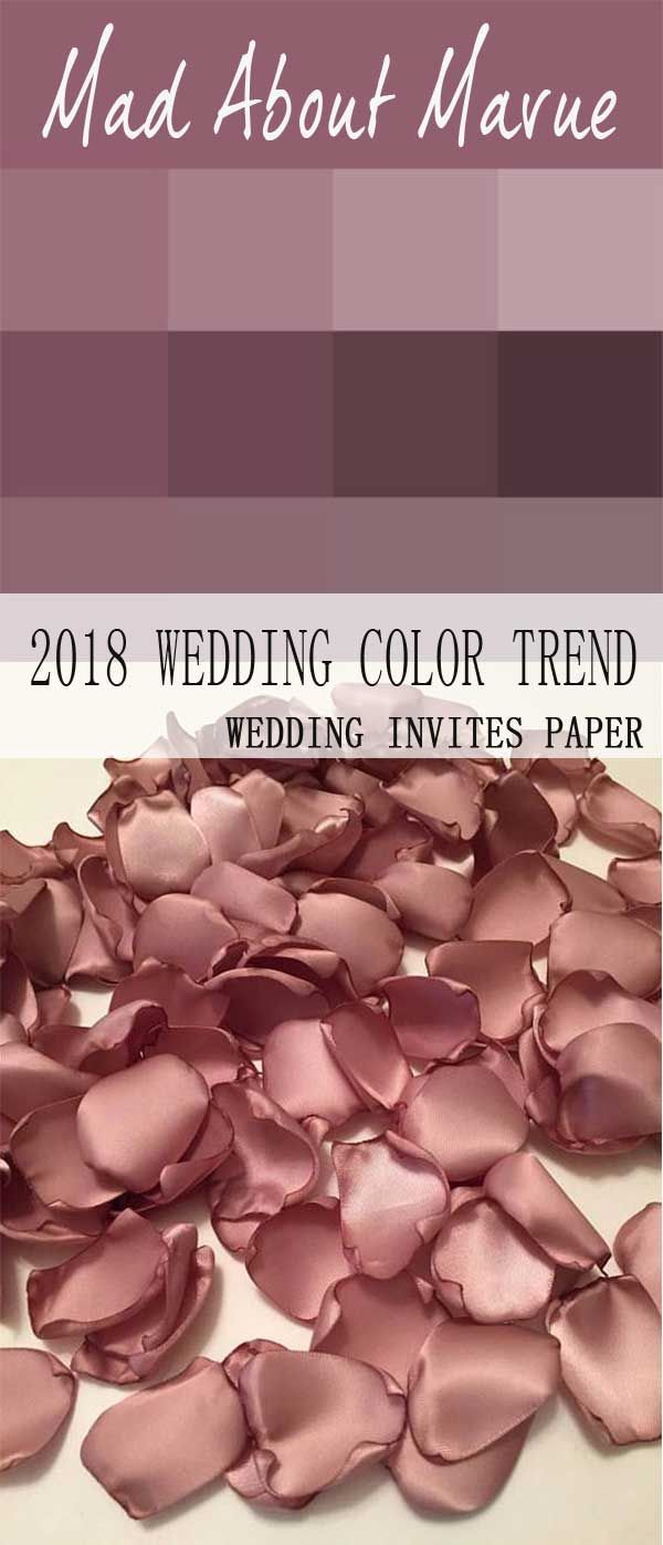 2018 STYLISH & PRETTIEST WEDDING COLOR TREND : SHADE OF MAUVE ...