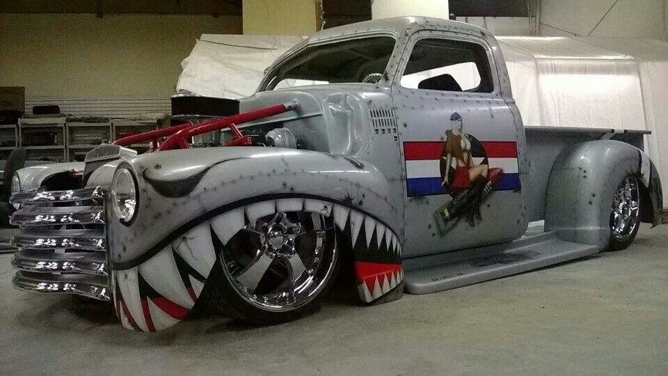 Bomber style paint Classic chevy trucks