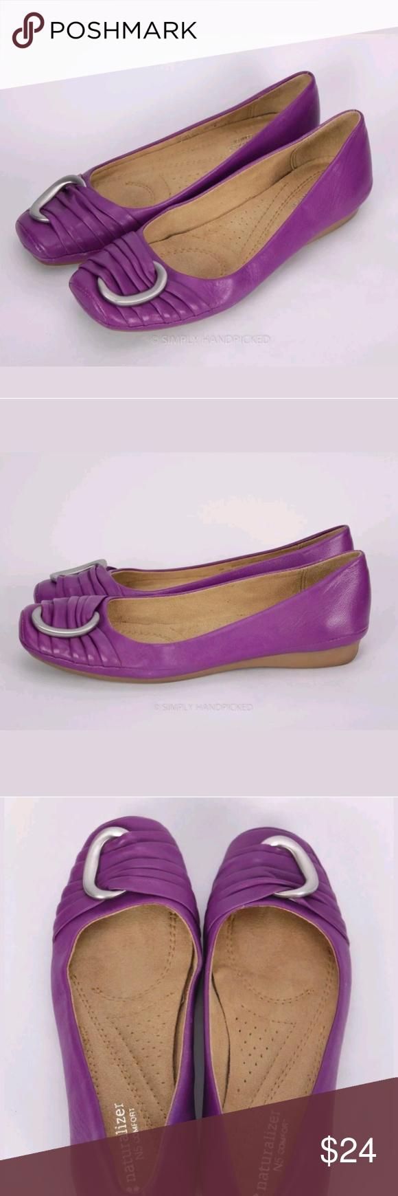 Naturalizer N5 Comfort Purple Leather Flats Size 7 Naturalizer N5 Comfort  Violette Purple Leather Flats Women's