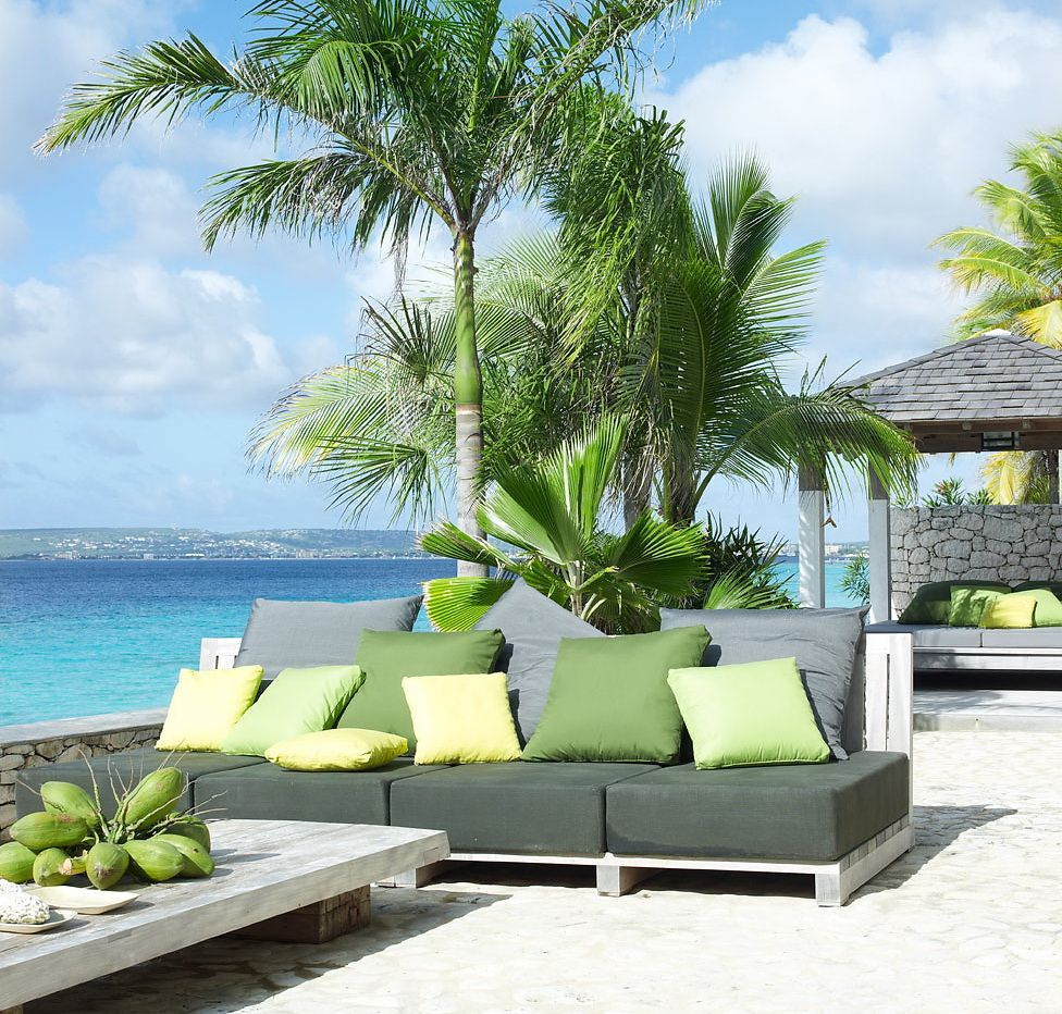 Beautiful outdoor furniture by the sea ༺༺ ❤ ℭƙ ༻༻