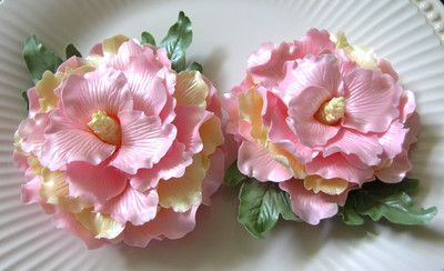 $11.95  GUM PASTE PEONIES Flowers Cake Topper Decorations Gorgeous