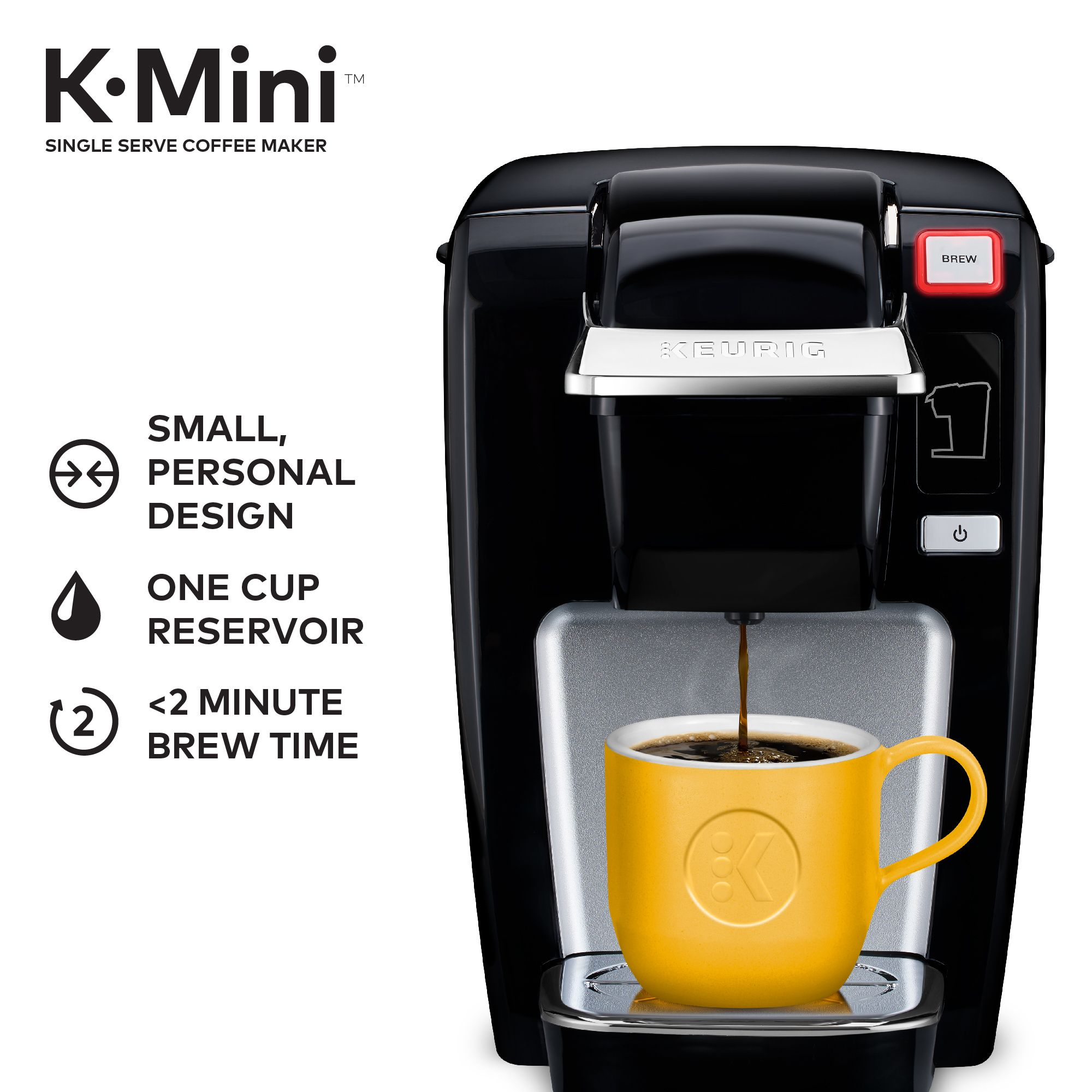 Keurig KMini K15 Single Serve, KCup Pod Coffee Maker