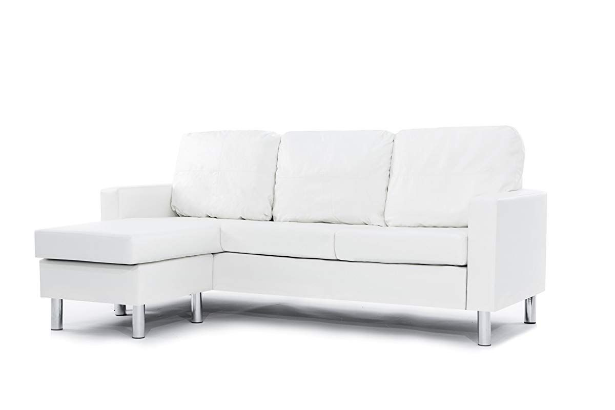 71 Reference Of Sectional White Sofa Bed In 2020 Sofas For Small Spaces White Leather Sofas Small Sectional Sofa