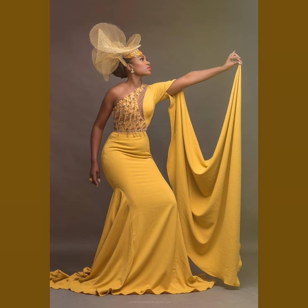 Asoebi Asoebi Styles Asoebibella Asoebi Wedding Guest Fashion Lover Naija Weddings Evening Dress Red Carpet Mustard Celebrity African Fashion Dresses African Wedding Attire African Traditional Dresses [ 1080 x 1080 Pixel ]