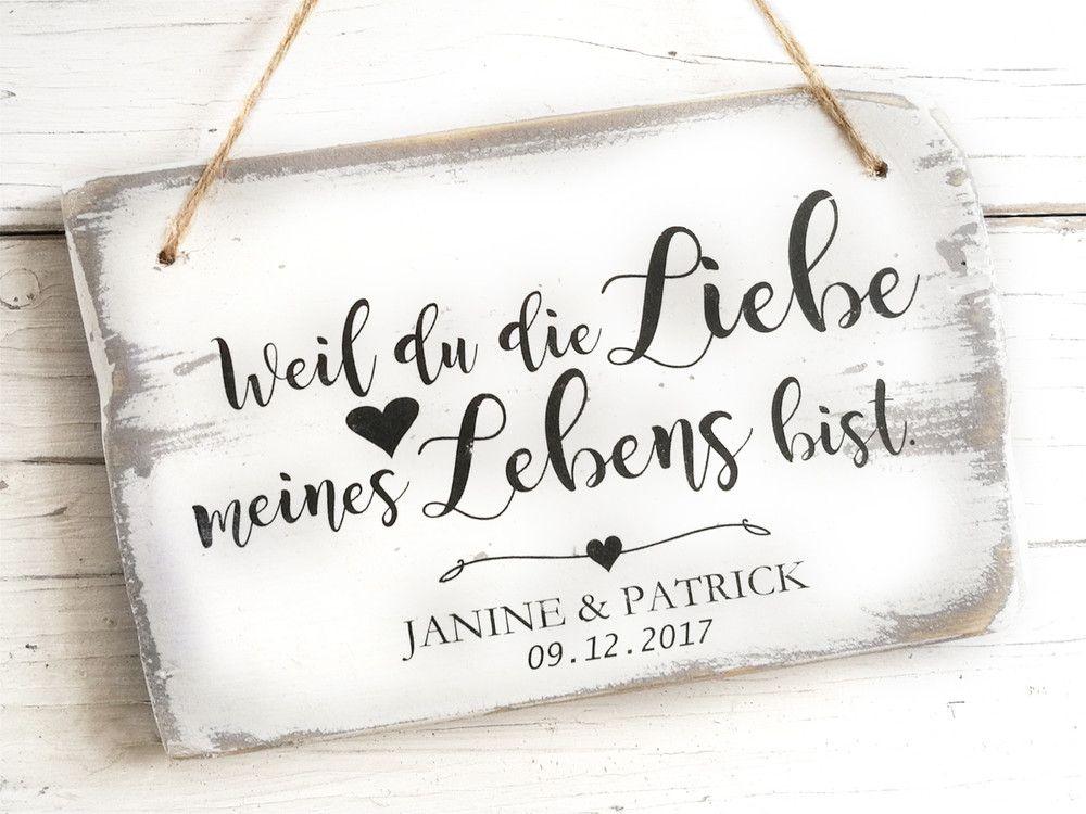Hochzeitsgeschenk Holz Personalisiert Namen Bild Hochzeit Pinterest
