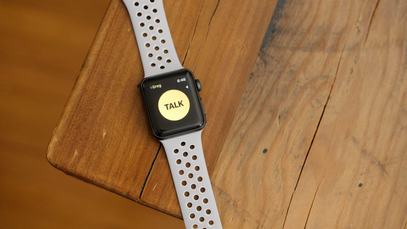 Handson WalkieTalkie on Apple Watch with watchOS 5 beta