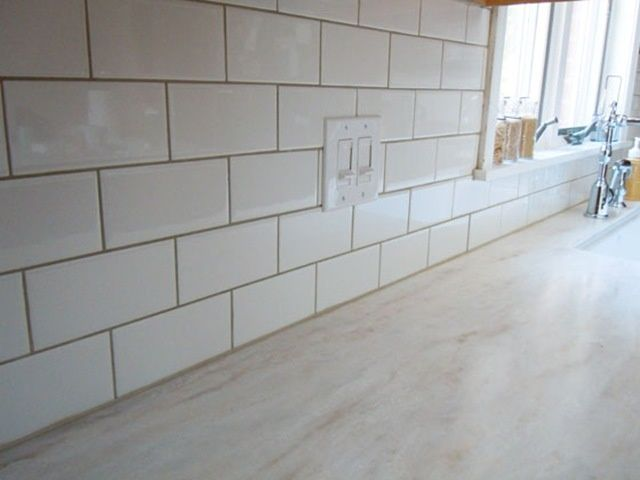 White Subway Tile Beige Grout Google Search Corian Countertops White Subway Tile Countertops