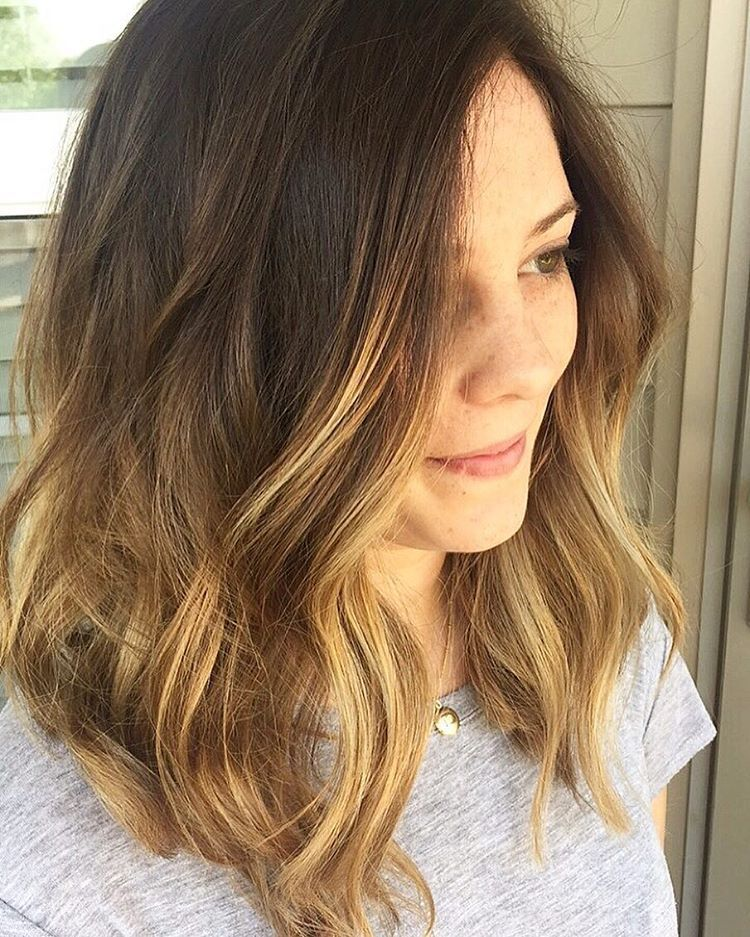 """51 Likes, 2 Comments - @mollypanici on Instagram: """"Melted brunette just in time for summer ☀️ #livedinhair #colormelt #balayage #sombre  #wavyhair…"""""""
