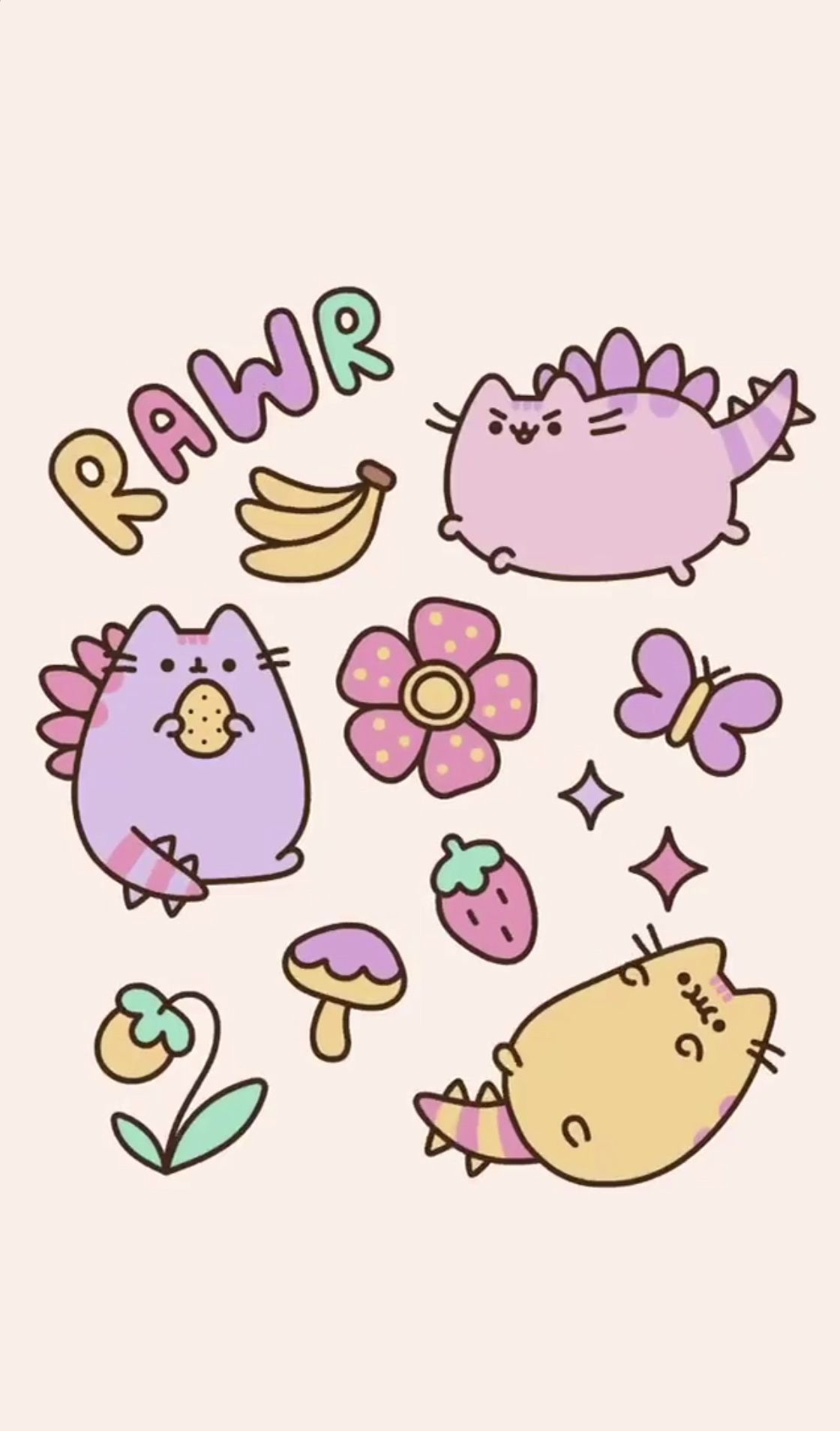 Pusheen Dinosaur Wallpaper Cat Wallpaper Pusheen Cute Dinosaur Wallpaper