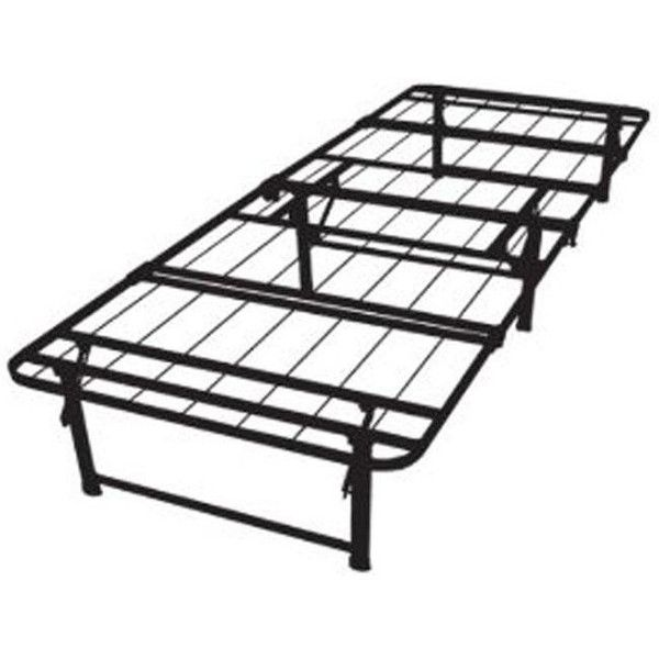 Hearts Attic Twin XL-size Steel Folding Metal Platform Bed Frame ($182) ❤ liked on Polyvore featuring home, furniture, beds, steel platform bed, platform bedframe, metal beds, steel bed and systems furniture