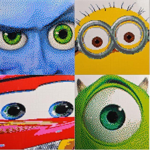 Animated Movie Character LEGO Mosaics by Ryan McNaught 1
