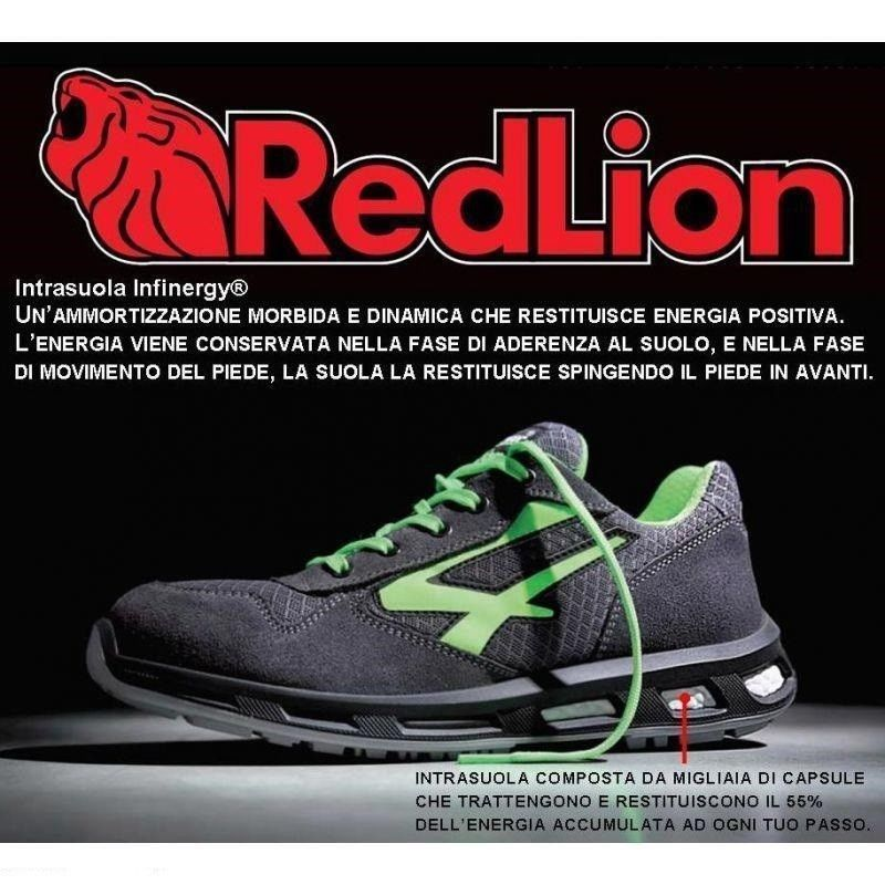 Scarpe Antinfortunistica UPOWER rosso Lion POINT S1P U SRC U S1P Power 0a7179