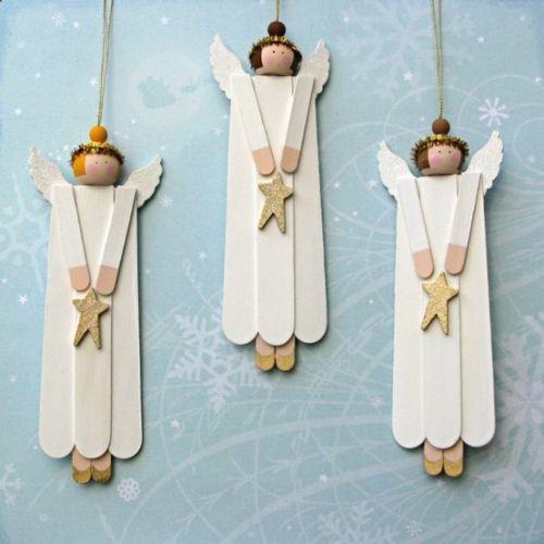Popsicle stick angels Yule Pinterest Cosas para hacer, Los - cosas de navidad