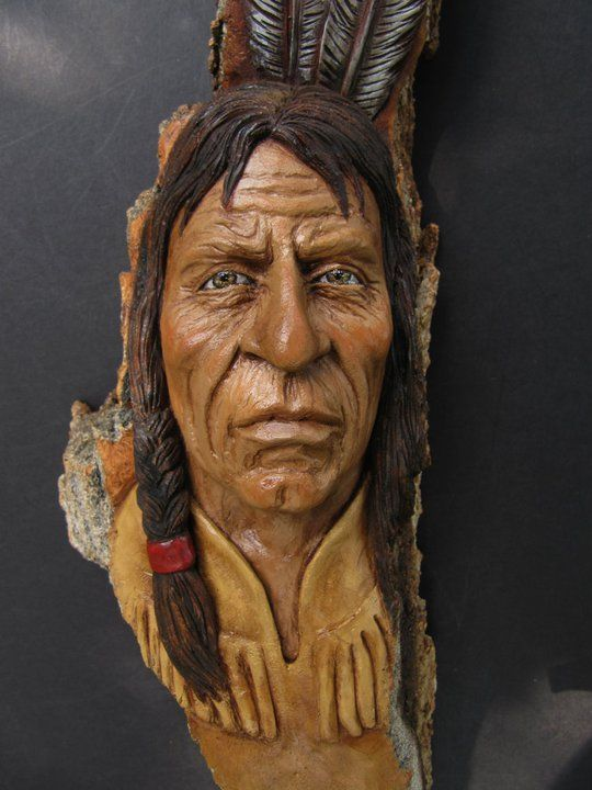 carving faces in wood - Google Search