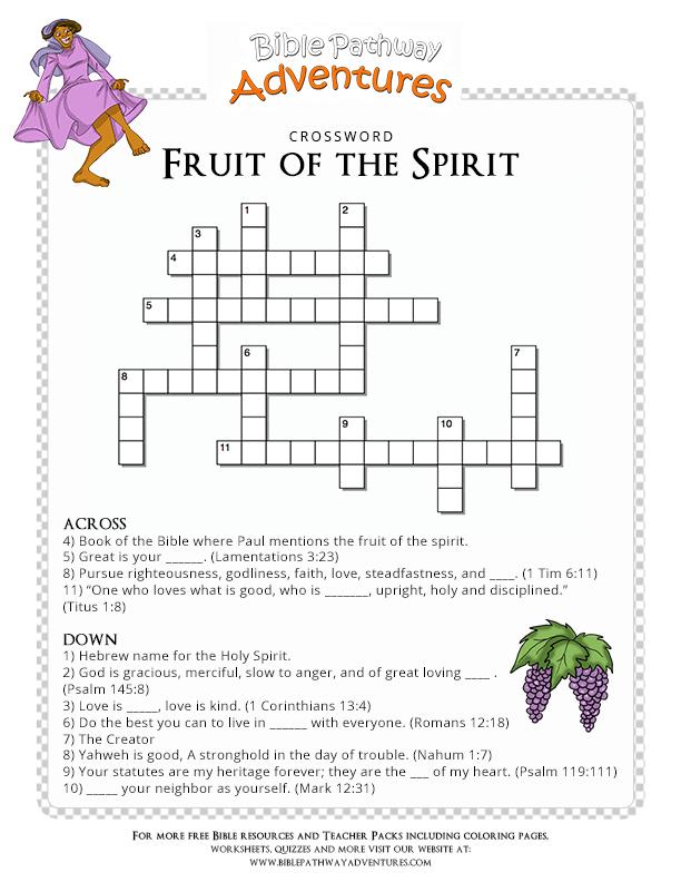 Free Bible Quiz for Kids: Fruit of the Spirit
