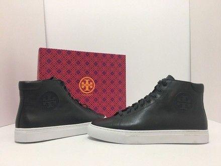 036472d9c82 Tory Burch Navy Leather Nola High Top Flats M Sneakers Size US 8 Regular (M